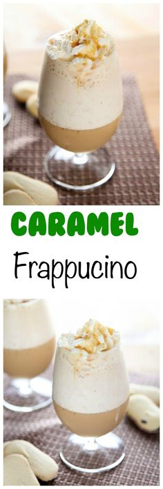 Caramel Frappuccino (Starbucks Copycat): Rich and creamy with the perfect pop of caramel flavor. Have Starbucks anytime you want with this copycat recipe!