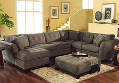 Playroom furniture - Rooms to Go - Cindy Crawford Home Metropolis Espresso Left 4 Pc Livingroom