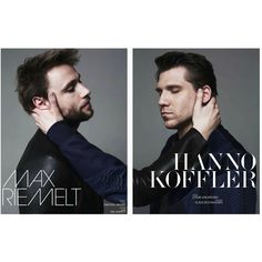 Interview Germany Editorial Max Riemelt and Hanno Koffler, June 2013... ❤ liked on Polyvore featuring editorials