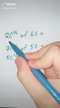 Life Hacks For School, School Study Tips, Math For Kids, Fun Math, Math Skills, Math Lessons, Math Resources, Math Activities, Cool Math Tricks