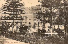 Alicante. Plaza de Isabel II con la casa de José Guardiola
