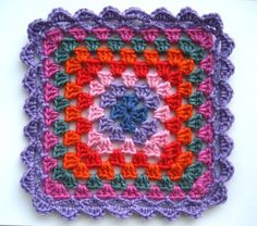 granny square edging pattern, its very easy doing my afghan with this pattern...