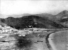Málagueta 1890 Costa, River, Mountains, Bella, Grande, Nature, Outdoor, Andalusia Spain, Old Photography