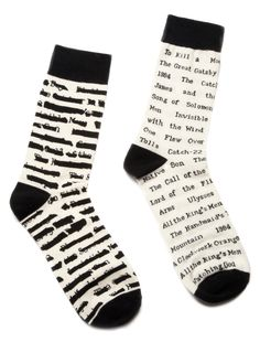 Banned Books literary socks...I've read 6 of these books!  Ban a book and I'm THERE to read it! ;)