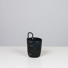Image of Black cotton large pencil bucket