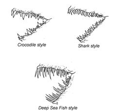 How To Draw A Dragon: more teeth options Sketching Tips, Drawing Tips, Drawing Reference, Drawing Sketches, My Drawings, Creature Drawings, Animal Drawings, Body Drawing, Creepy Art