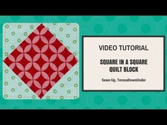 Quick and easy square in a square video tutorial   Sewn Up