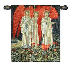The Holy Grail The Vision Middle Panel European Wall Tapestry