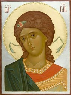 This icon of the Holy Archangel Gabriel is handpainted on a gessoed wooden board using egg tempera paints. A real masterpiece from the icon painting studio of St Elisabeth Convent! Byzantine Art, Archangel Gabriel, Painting, Paint Icon, Orthodox Christian Icons, Art, Painting Studio, Art Icon, Sacred Art