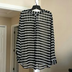 Women's Dress Shirt Women's A.N.A sheer dress shirt, size 2x. New without tags. Never worn. ana Tops Blouses