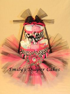 zebra and hot pink baby shower diaper cake awesome ideas for nene pink girl baby shower