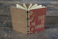 Small Life is Good Coptic Binding Travel journal by Thenibandquill #lifeisgood, #small, #journal, #diary, #traveljournal, #gift, #handmade, #ooak, #thenibandquill