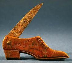 1900 Patriot Shoe Antique Advertising Blade Pocketknife Collectable