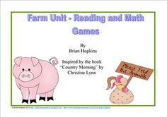 Reading and Math Games - on the Farm!