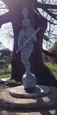 Estatua de Agüeybaná II, El Bravo, en el Parque Monumento a Agüeybaná II, El Bravo, en Ponce, Puerto Rico (DSC02672C).jpg
