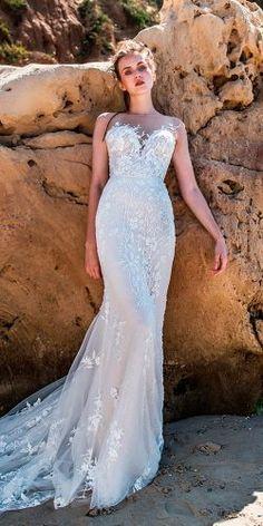 beach wedding dresses strapless sweetheart neckline full embellishment lace fit and flare limor rosen