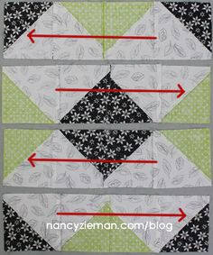 Nancy Zieman | October 2015 Block of the Month | Triangle Medley | Pressing Directions