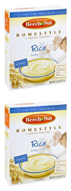 Beech Nut Homestyle Single Grain Rice Baby Cereal 8 OZ (Pack of 16)