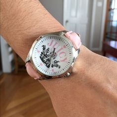 Brand new Juicy Couture watch, no longer with box Juicy Couture watch. Pink leather strap with silver face Juicy Couture Accessories Watches
