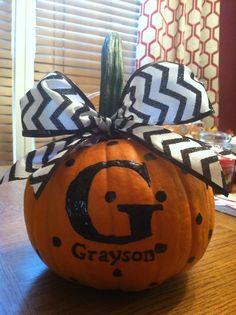 Personalized Fall pumpkin