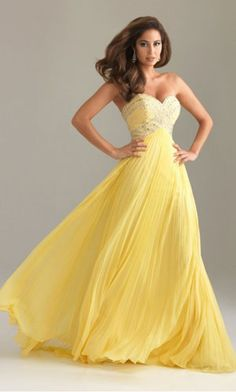 Oh. My. Goodness. I want a yellow prom dress sooooo badly!! Follow me for more prom dresses!!! ;)