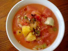 Mango Watermelon Soup