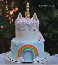 Unicorn Cakes, Unicorn Party, Birthday Cake, Desserts, Ideas, Food, Food Cakes, Party, Tailgate Desserts