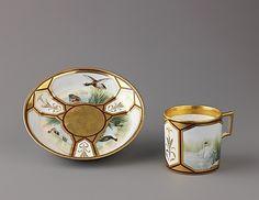 Cup and saucer Austrian, Vienna  ca. 1808