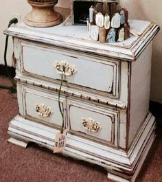 French Blue Nightstand.  Farmhousepaint.com