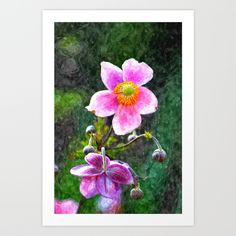 Buy Autumn anemone aquarell by Christine baessler as a high quality Art Print. Worldwide shipping available at Society6.com. Just one of millions of products available.