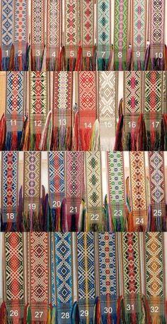 Pickup inkle weave. Lovely patterns.
