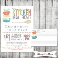 kitchen bridal shower stores 26 best images showers invitation and recipe card digital file