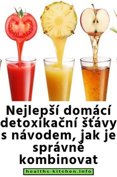 Nejlepší domácí detoxikační šťávy s návodem, jak je správně kombinovat Smoothie Detox, Grapefruit, Alcoholic Drinks, Food And Drink, Health, Fitness, Recipes, Diet, Syrup