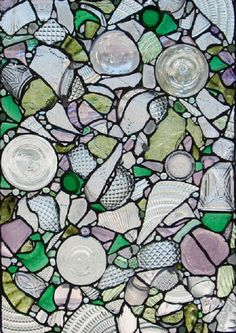 Found Glass Assemblage. By Kent Sandy Larsen, California and Utah. earofthewind.com