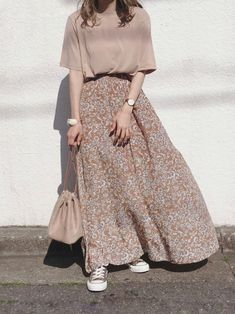 Long Skirt Fashion, Long Skirt Outfits, Modest Fashion, Fashion Outfits, Womens Fashion, 90s Fashion, Street Hijab Fashion, Korean Street Fashion, Muslim Fashion