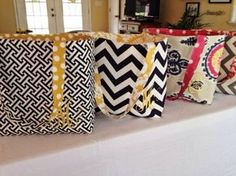 Free tote pattern made with Duck canvas