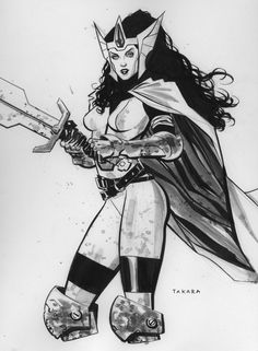 ECCC 14 sketch - Lady Sif, inked by marciotakara on deviantART