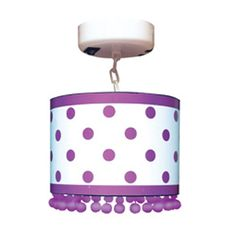 Locker Lookz White with Purple Dots Lamp - Light up your locker with this adorable lamp and other accessories from Locker Lookz!