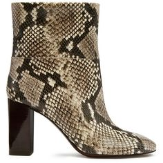 f59ad0797b46c ... promo code for tory burch devon snake print booties 360 liked on  polyvore featuring b8385 15ac6