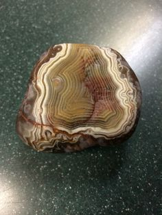 Lake Superior Fortification Agate. My friend Kathy found this absolute treasure.