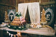 They chose to service donuts in lieu of wedding cake to keep with their fun brunch theme. I'm sure their guests were thrilled — the donuts look so good!