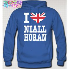 I Love Niall Horan Hoodie British Flag Niall Zayn Liam Louis One... ($45) ❤ liked on Polyvore