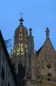 Detail of the Maria am Gestade Kirche in Vienna.