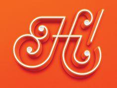 Hi! Lettering by Logan Brazeau #Design Popular #Dribbble #shots