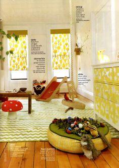 Woodland themed children's room
