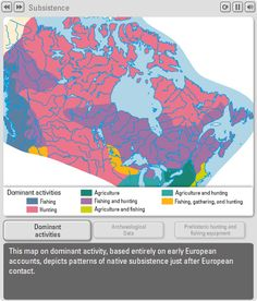 The Canadian Atlas Online – Early survival -patterns of First Nations subsistence - Historical Atlas of Canada