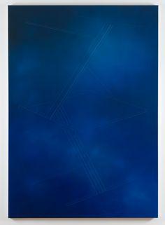 Frank Amerlaan Untitled, 2015. Oil and thread on canvas, 270 x 190 cm. Photo: Gert Jan van Rooij.