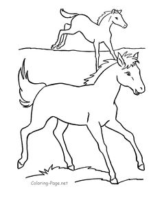 running horses these free printable coloring book pages of horses provide hours of online and at home fun for kids - Coloring Pages Horses Printable