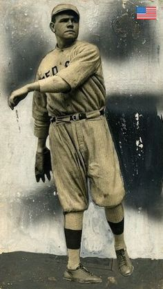 A magnificent early image of BABE RUTH as a rookie pitcher for the Boston Red Sox in Pirates Baseball, Baseball Art, Baseball Photos, Sports Photos, Baseball Stuff, Willie Mays, Football Hall Of Fame, Mlb Players, Babe Ruth