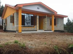 3 Bedrooms Bungalow House in Kisumu Seme – West Kenya Real Estate-Property Letting, Property Management and Sales Two Bedroom House Design, 3 Bedroom Floor Plan, 3 Bedroom Bungalow, 2 Bedroom House Plans, Bungalow House Plans, Bungalows, Affordable Housing, Home Design Plans, Living Room Lighting